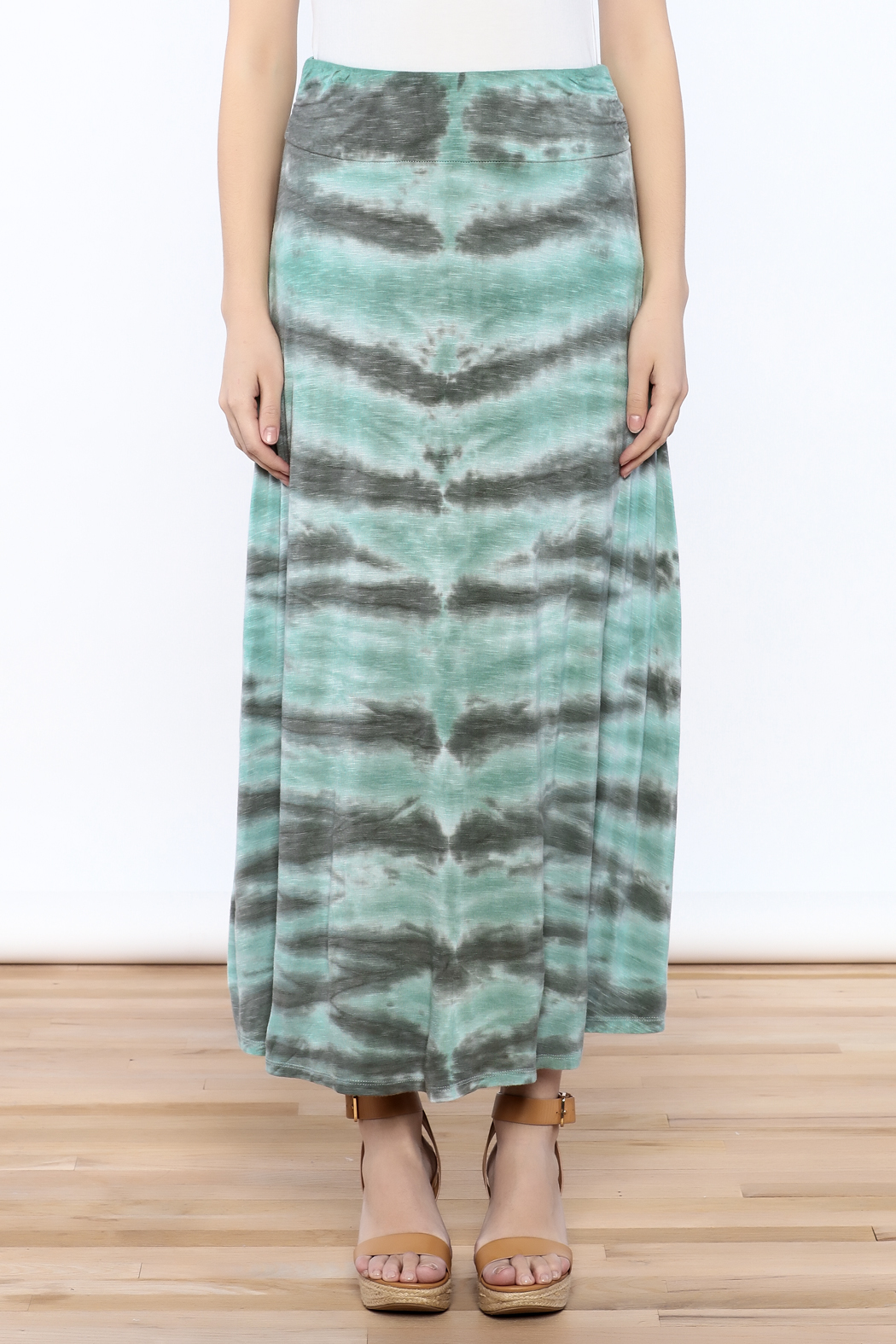 Tribal Jeans Tie Dye Maxi Skirt - Side Cropped Image