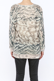 Tribal Jeans Animal Print Sweater - Back cropped