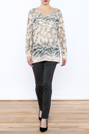 Tribal Jeans Animal Print Sweater - Front full body