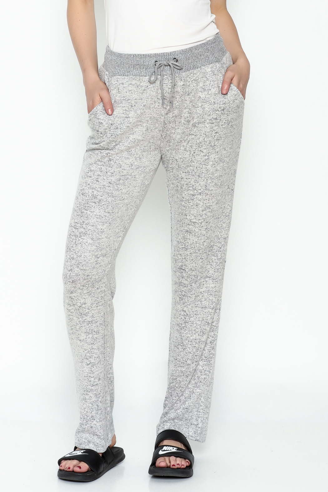 Tribal Knit Relaxed Pants - Main Image