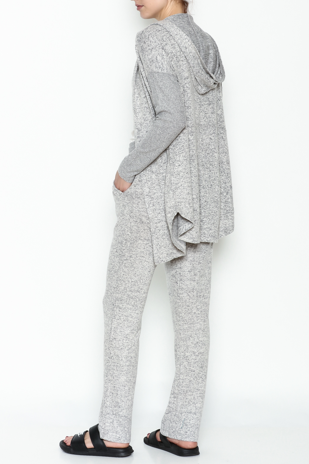 Tribal Knit Relaxed Pants - Side Cropped Image