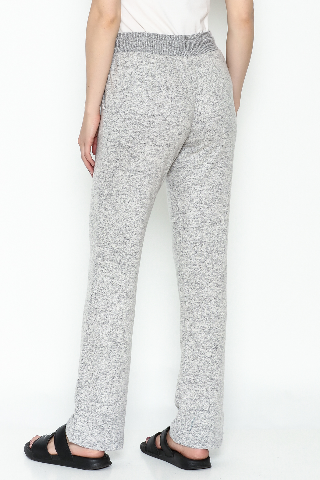 Tribal Knit Relaxed Pants - Back Cropped Image
