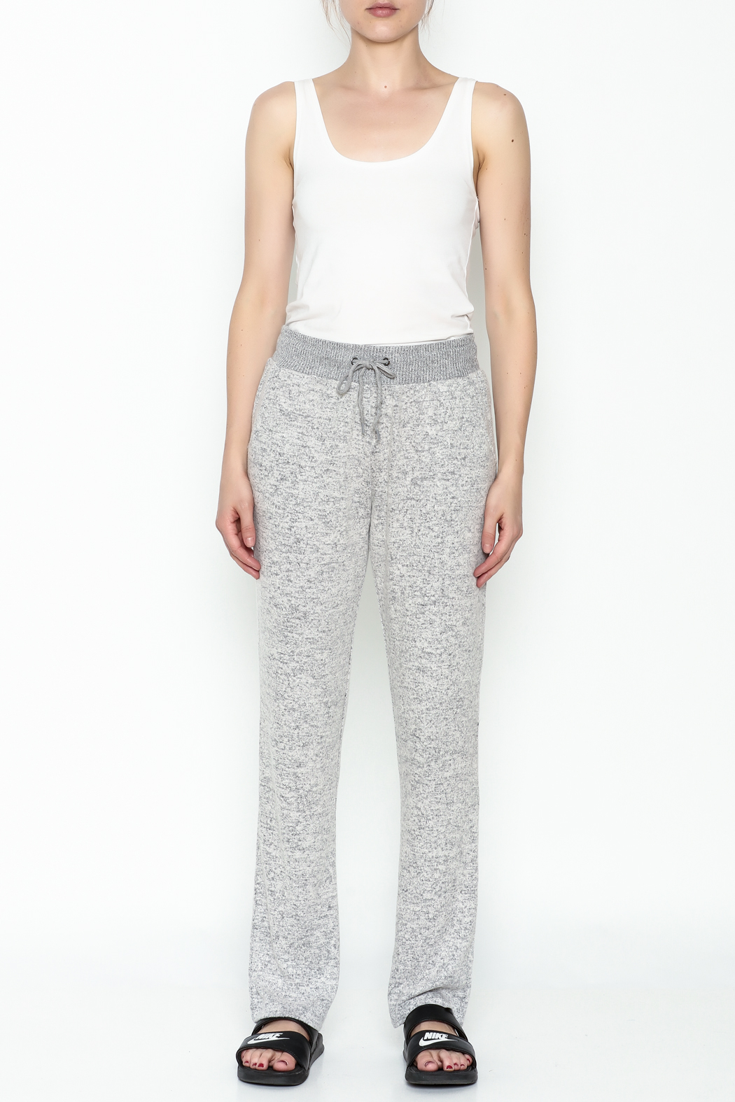 Tribal Knit Relaxed Pants - Front Full Image