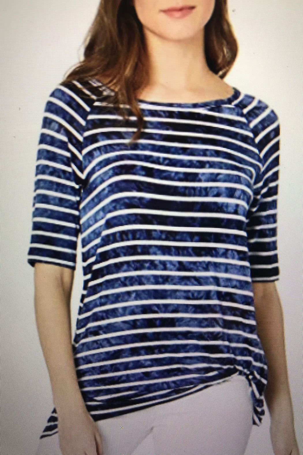 Tribal Knotted Stripe Tee - Main Image