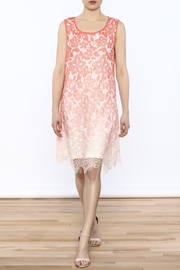 Tribal Coral Lace Dress - Front full body