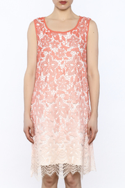 Tribal Coral Lace Dress - Side cropped