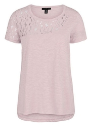 Tribal Lace Insert Tee - Front cropped