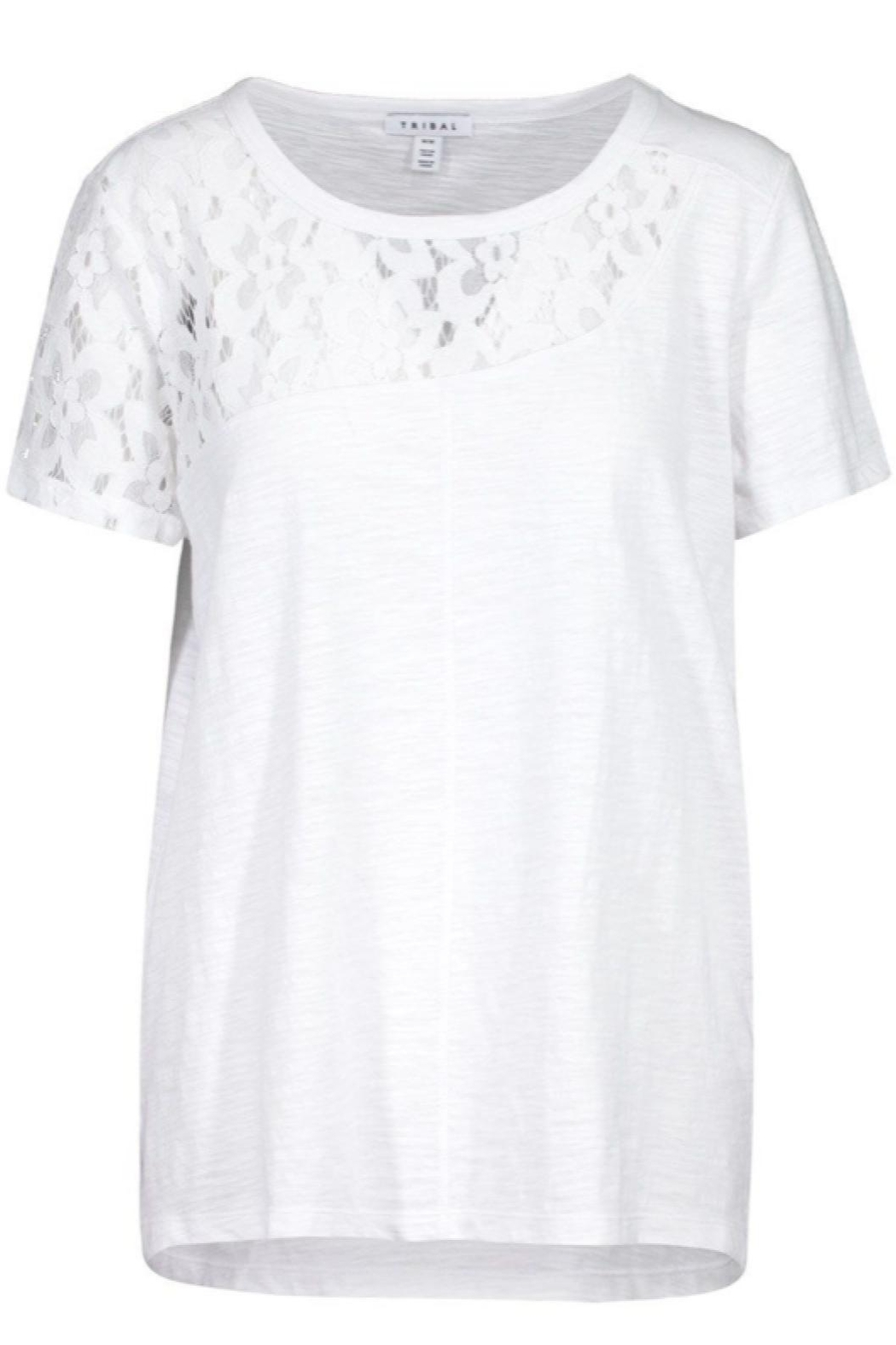 Tribal Lace Insert Tee - Front Cropped Image