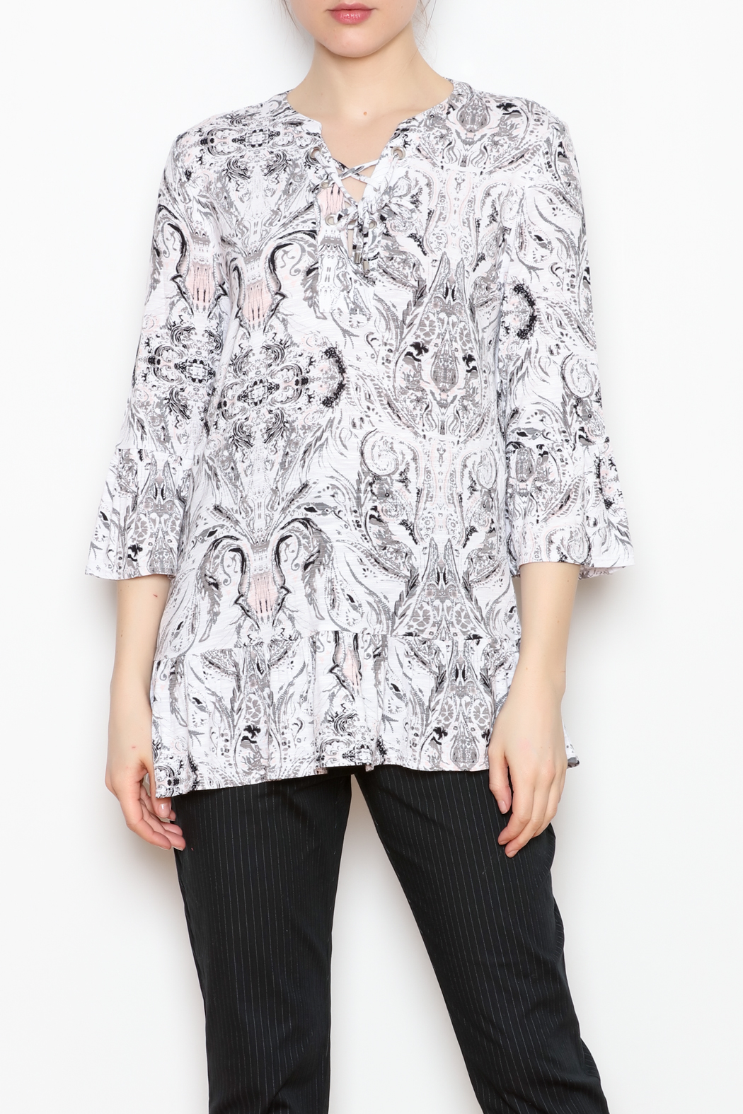 Tribal Lace Up Top - Main Image
