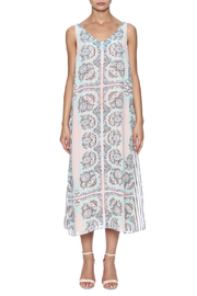 Tribal Layered Tank Dress - Front cropped
