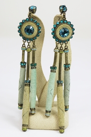 Dominique Tribal Long Earrings - Product Mini Image