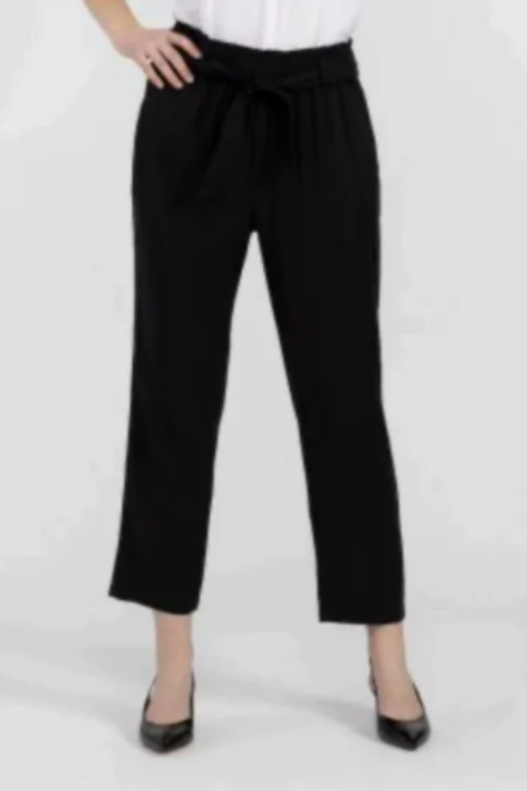 Tribal  Lyocell Paper Bag Waist Pant - Front Cropped Image