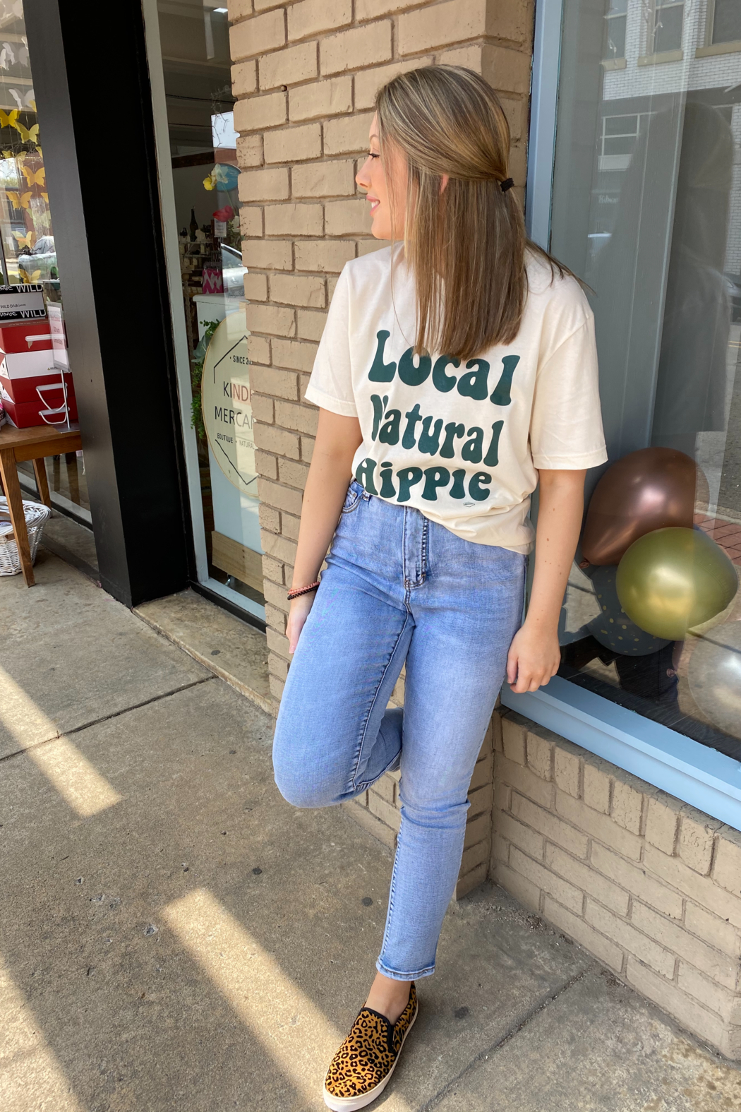 tribal  Tribal Mom Jeans - Main Image