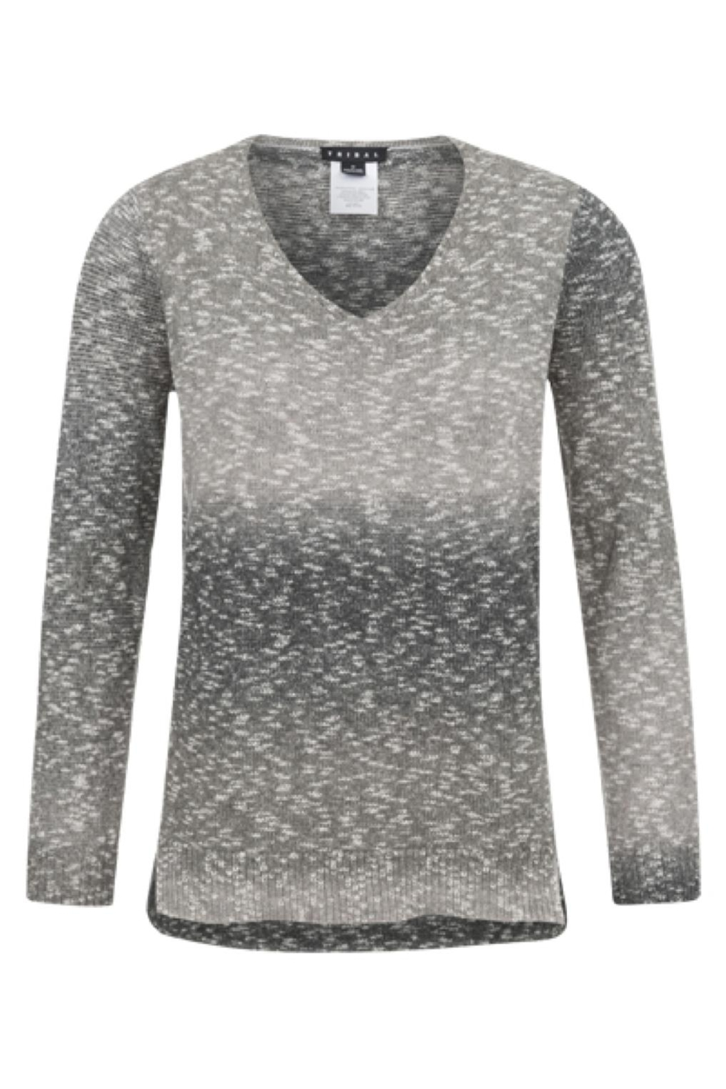 Tribal Muted V-Neck Sweater - Main Image