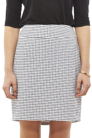 Tribal Navy White Check Skirt - Side cropped