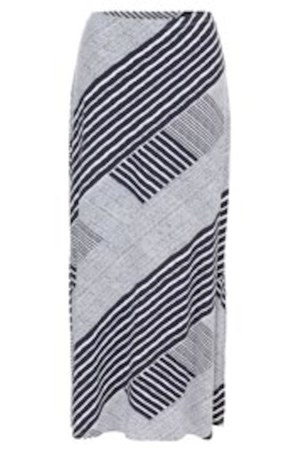 Tribal Navy/white Maxi Skirt - Front Cropped Image