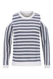 Tribal Navy/white Striped Top - Product Mini Image
