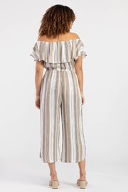 Tribal On-Off Shoulder Jumpsuit - Front full body