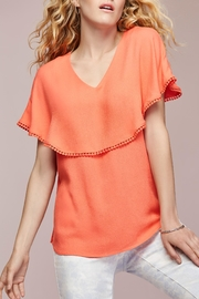 Tribal Orange V-Neck Top - Product Mini Image