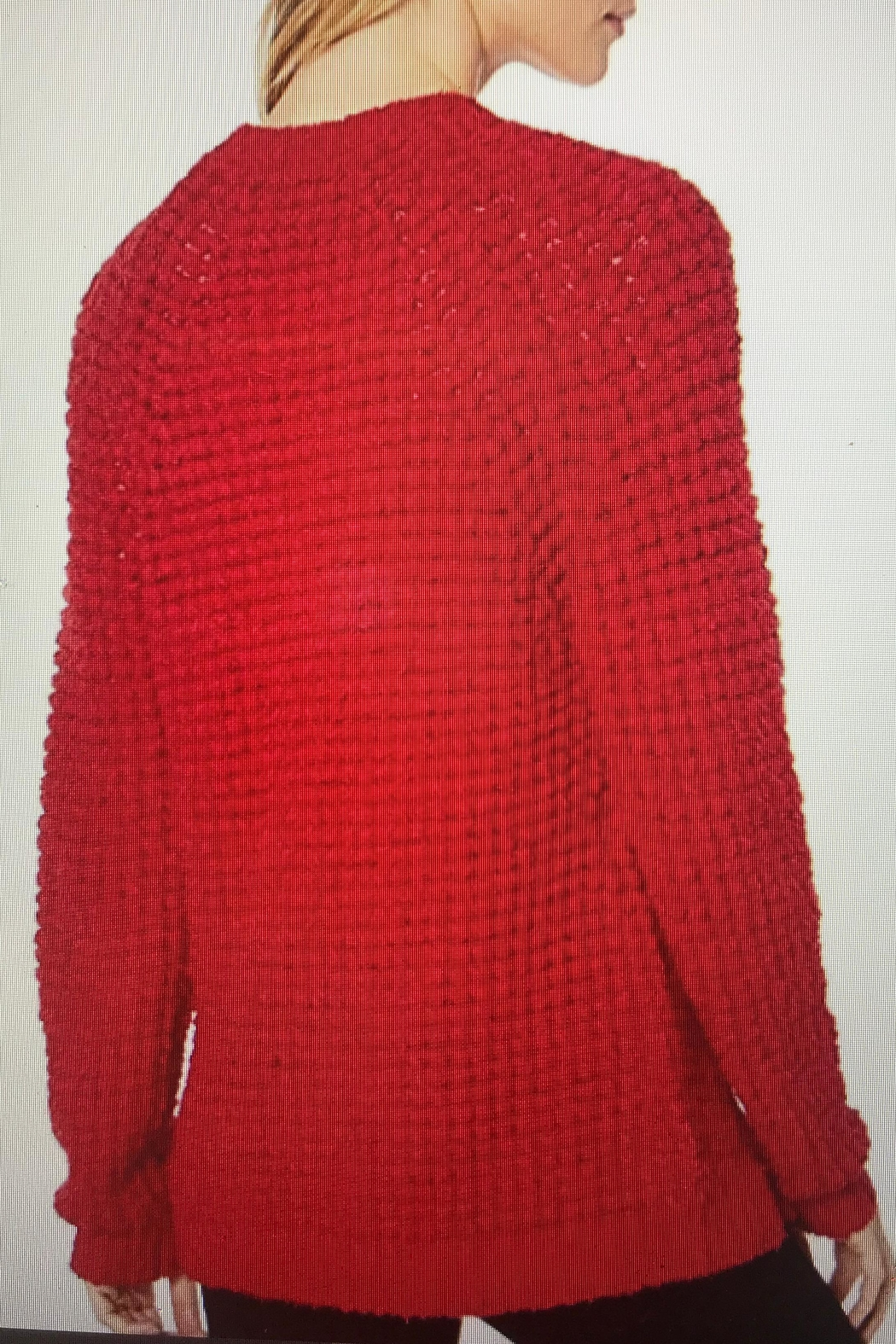 Tribal Popcorn Knit Sweater - Front Full Image