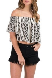 Elan Tribal Print Crop - Product Mini Image