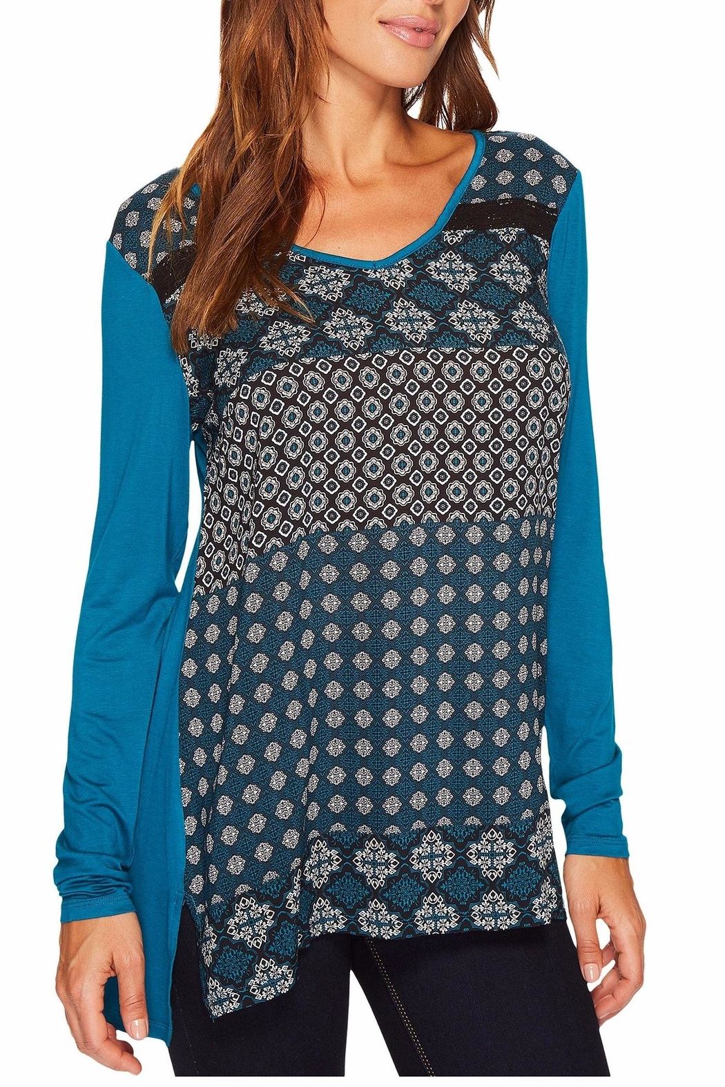Tribal Print Tunic - Front Cropped Image