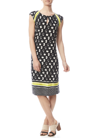 Tribal Cap Sleeve Printed Dress - Front full body