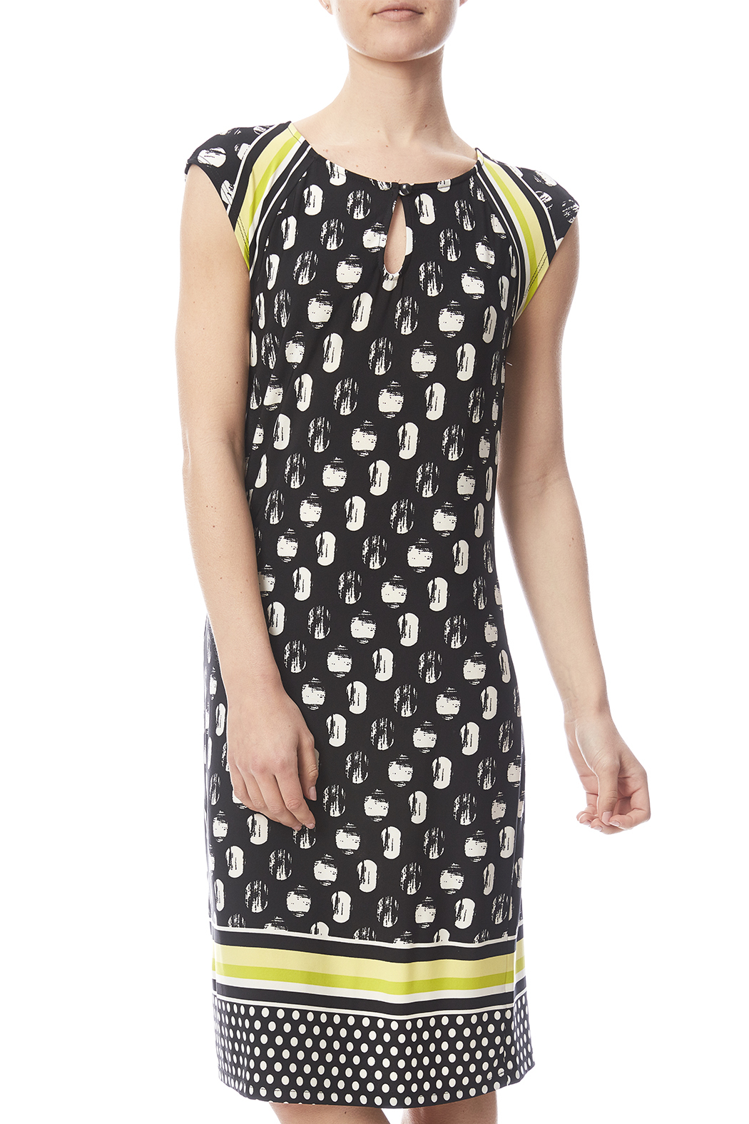 Tribal Cap Sleeve Printed Dress - Main Image