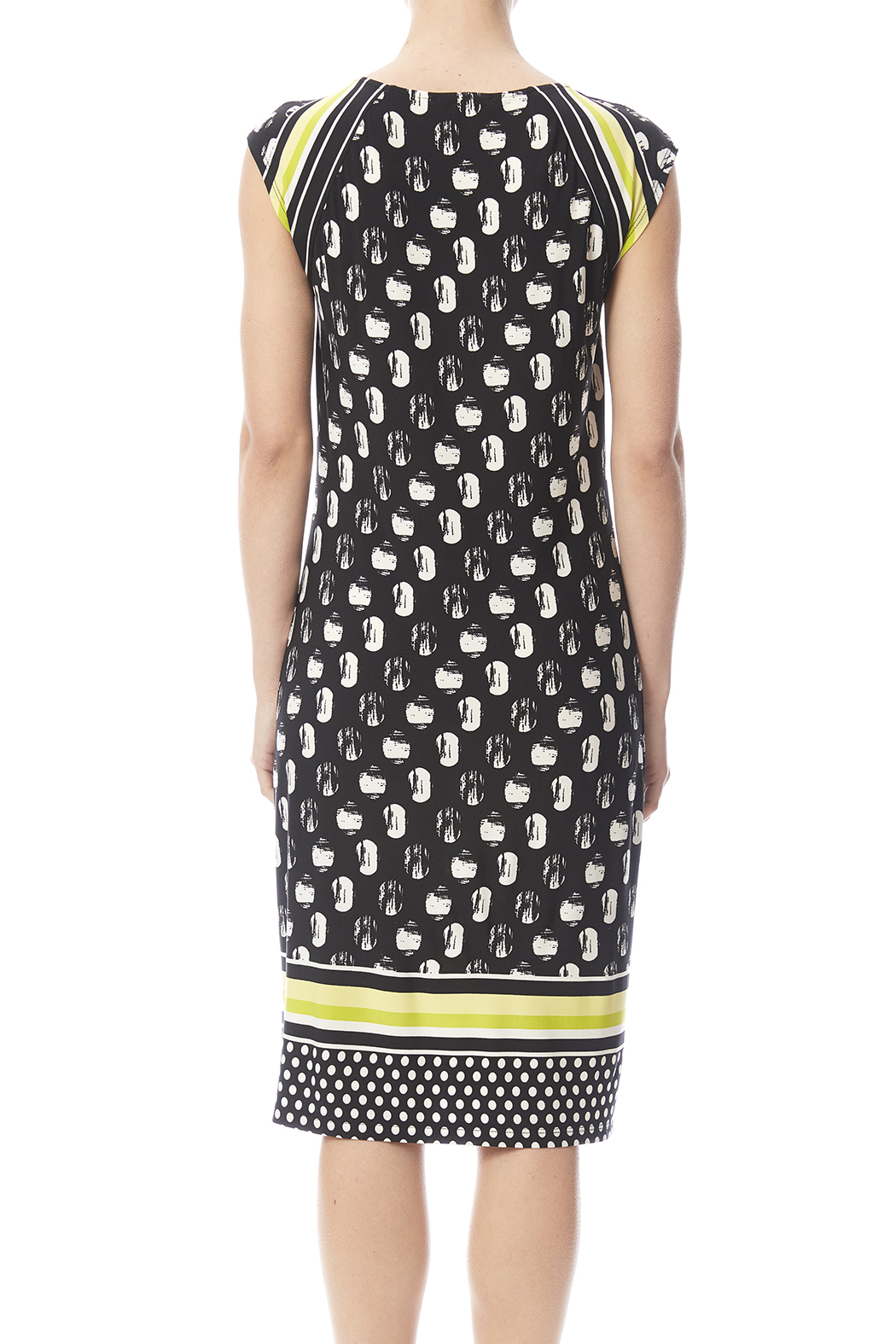 Tribal Cap Sleeve Printed Dress - Back Cropped Image