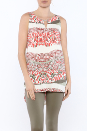 Tribal Printed Tunic Top - Front cropped