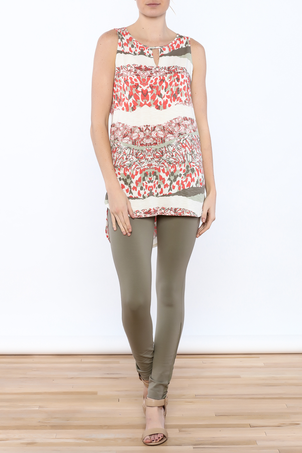 Tribal Printed Tunic Top - Front Full Image