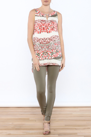 Tribal Printed Tunic Top - Front full body