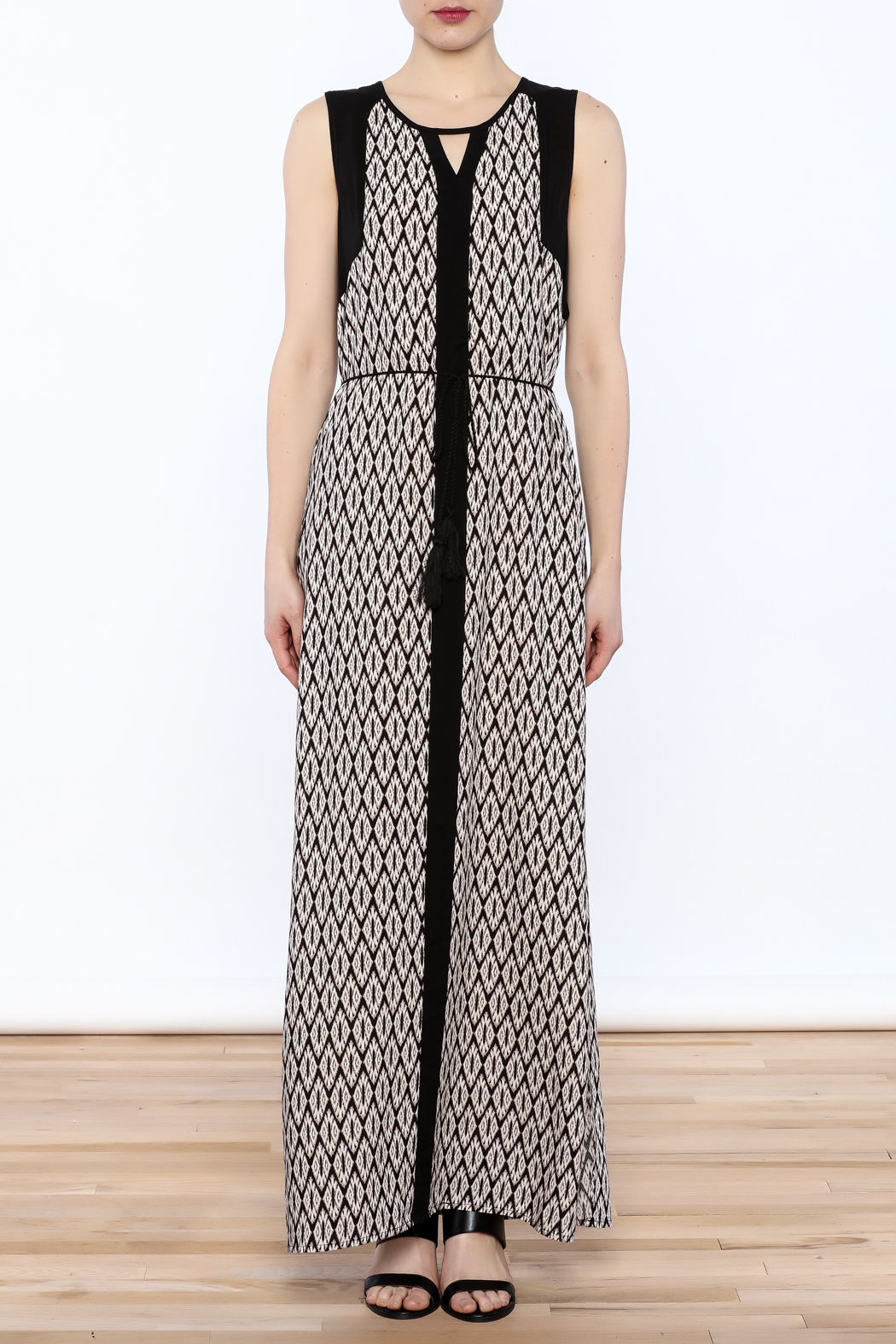 Tribal Print Maxi Dress - Front Cropped Image