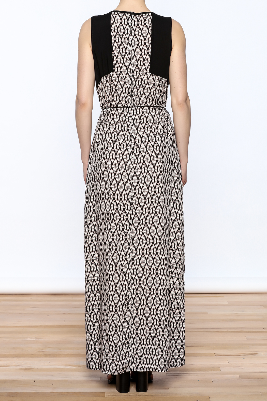 Tribal Print Maxi Dress - Back Cropped Image