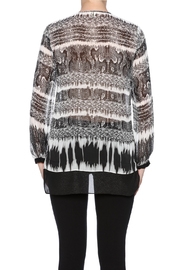 Tribal Printed Tunic Top - Back cropped