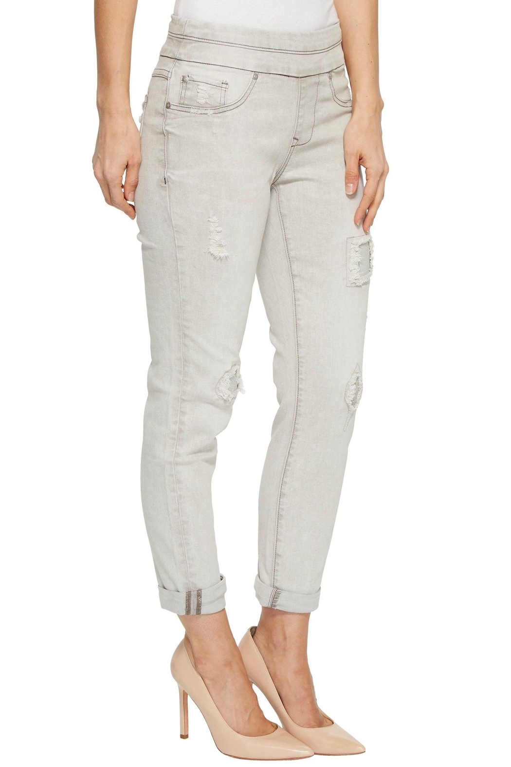 Tribal Pull On Jeans - Side Cropped Image