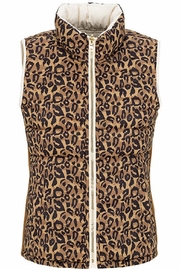 Tribal Reversible Animal Print Vest - Front cropped
