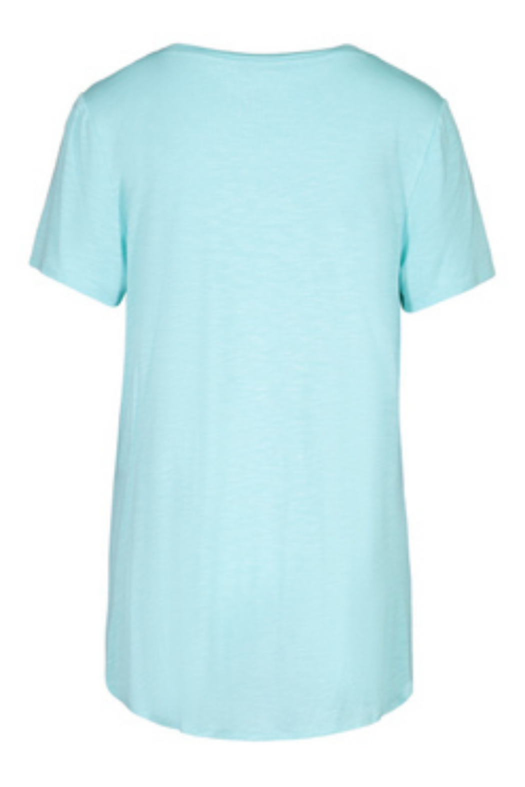 tribal  Tribal S/S Crew Neck Tee with Side Slit in Ocean - Front Full Image