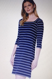 Tribal Striped Dress With Chambrey Trim - Product Mini Image