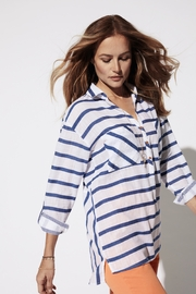 Tribal  Summer Stripe roll up sleeve shirt - Product Mini Image