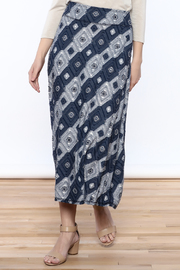 Tribal Textured Midi Skirt - Product Mini Image
