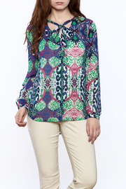 Tribal Colorful Long Sleeve Blouse - Product Mini Image