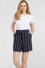 Tribal  Tie Waist Stripe Shorts - Front cropped