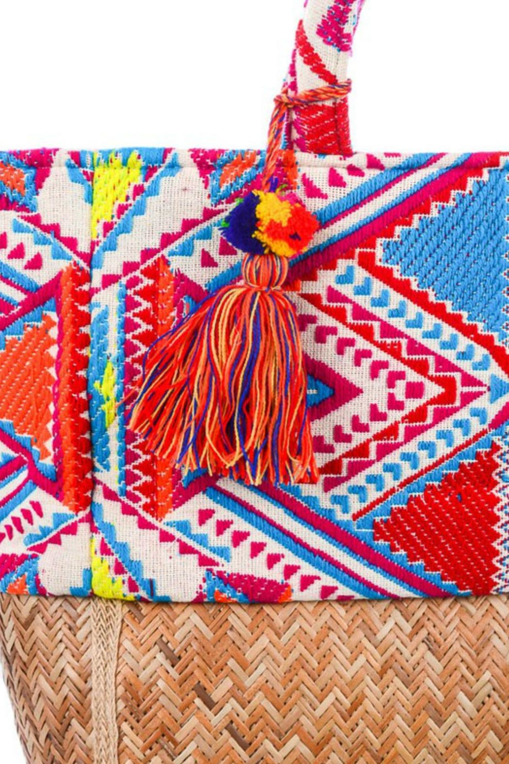 Imagine That Tribal Tote Bag - Back Cropped Image