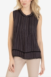 Tribal Tuck Pleat Blouse - Front cropped