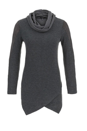 Tribal V-Front Cowl Sweater - Front cropped