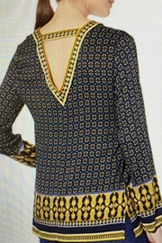 Tribal V-Neck Print Blouse - Front full body