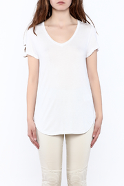 Tribal White Basic Tunic Top - Side cropped