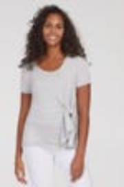 Tribal Jeans Tribal Waist-tie soft jersey top - Front cropped