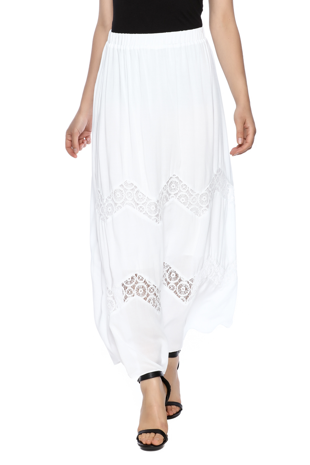 Embroidered skirt - Black/Patterned - Ladies   H&M ...